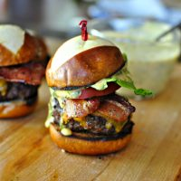 Bacon Cheddar Ranch Pub Burgers