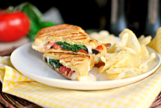 Caprese Panini stacked l www.SimplyScratch.com