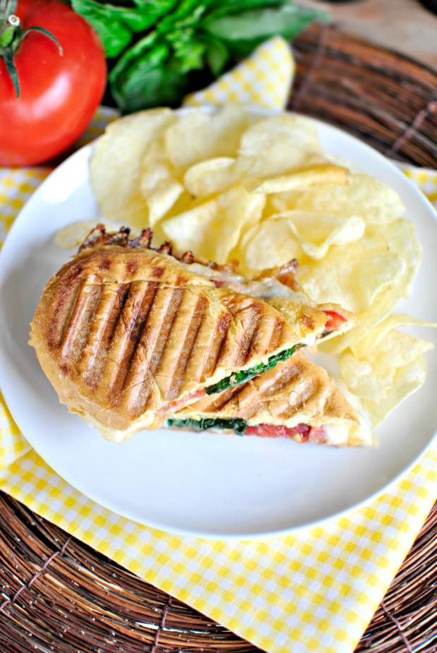 Pressed Caprese Sandwich l SimplyScratch.com