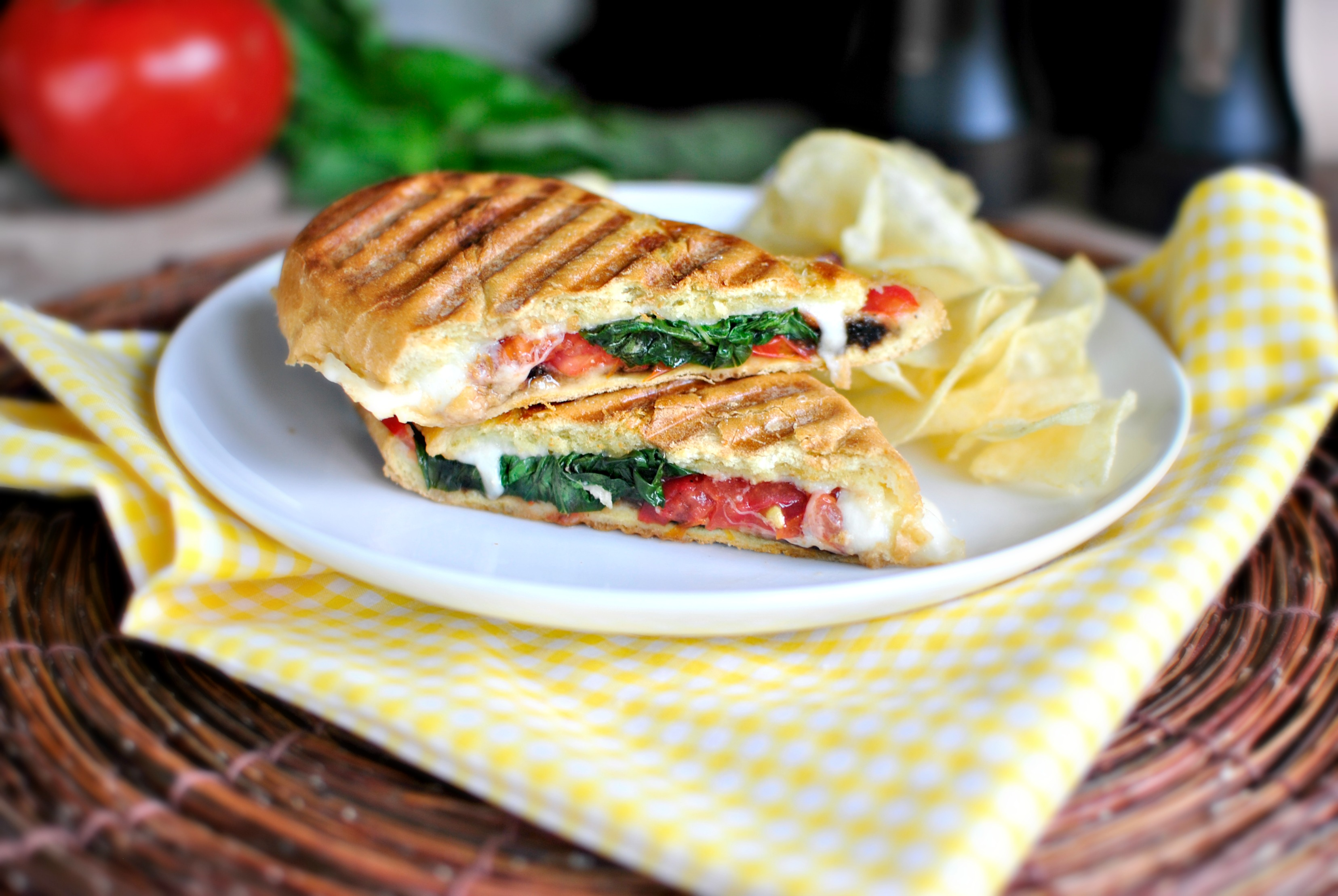 Simply Scratch Pressed Caprese Sandwich - Simply Scratch