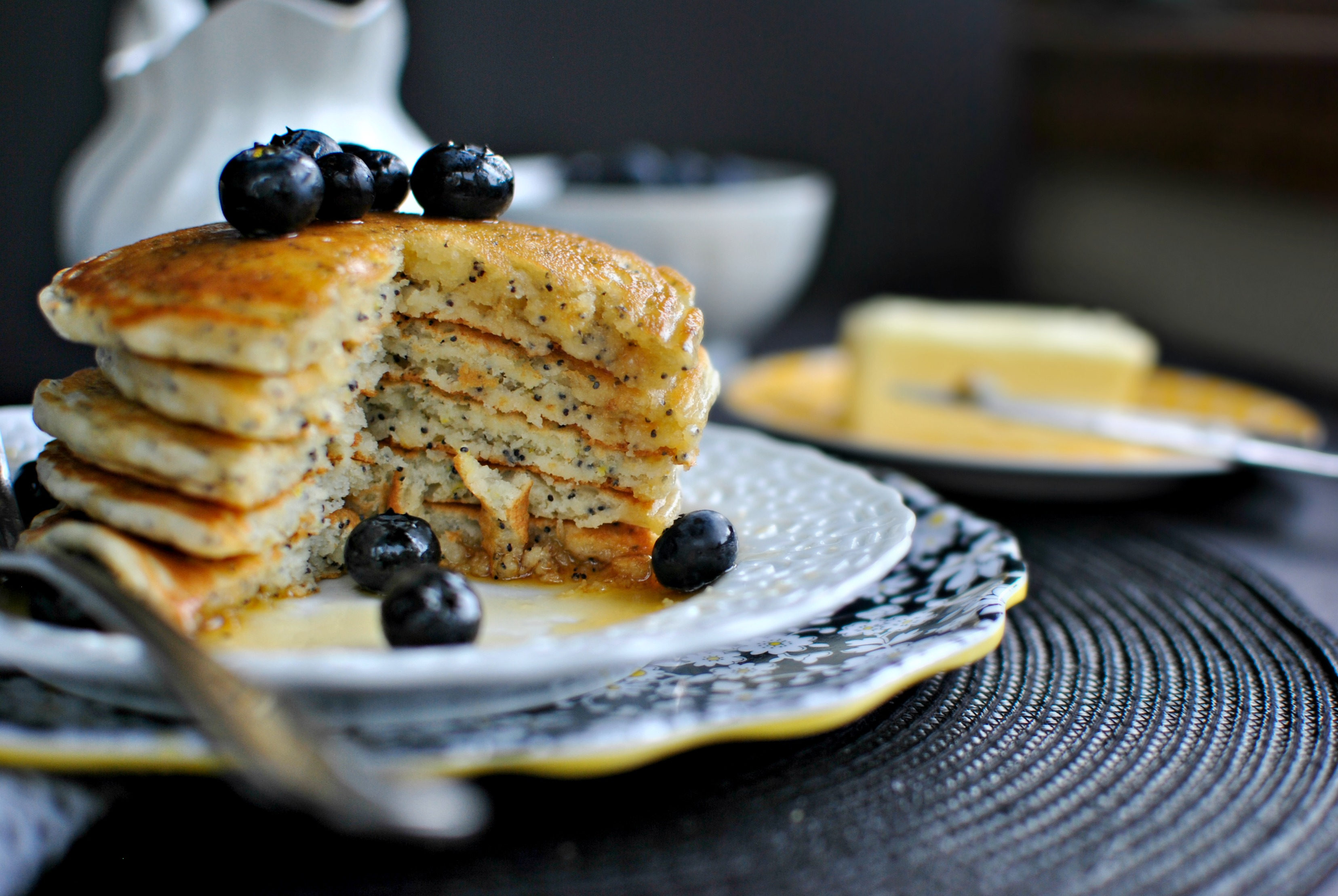 Simply Scratch » Lemon Poppy Seed Pancakes
