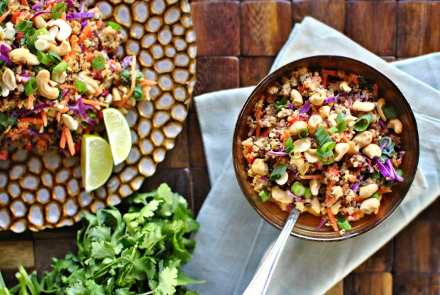 Cashew Thai Quinoa Salad l SimplyScratch.com