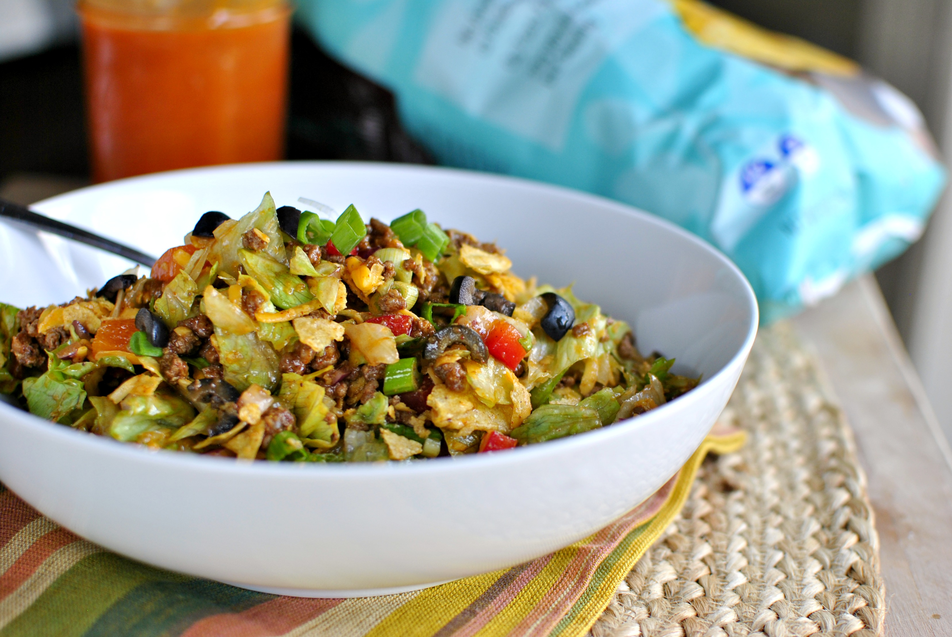 Simply Scratch Chopped Taco Salad + Homemade Catalina Dressing ...
