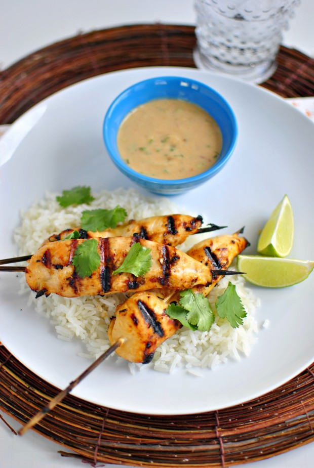 Thai Chicken Satay Skewers and Peanut Sauce 02