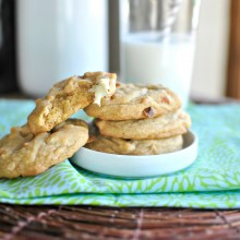 White Chocolate Chunk and Roasted Macadamia Nut Cookies II www.SimplyScratch.com