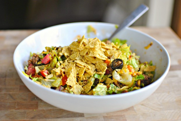 Chopped Taco Salad l SimplyScratch.com