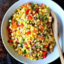 Grilled Sweet Corn Salsa l www.SimplyScratch.com