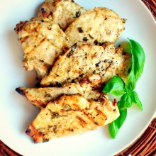 Grilled Lemon Basil Chicken ~ www.SimplyScratch.com