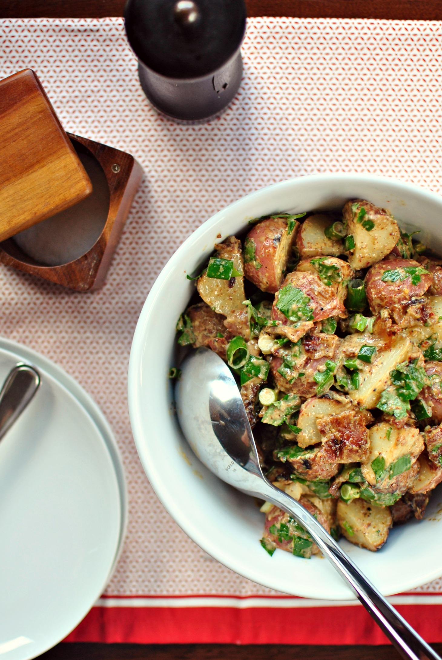Simply Scratch » Grilled Potato Salad + Bacon-Dijon Vinaigrette