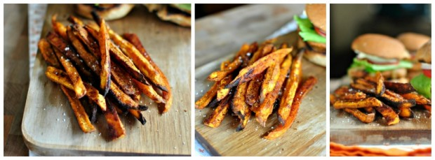 Spicy Baked Sweet Potato Fries Collage