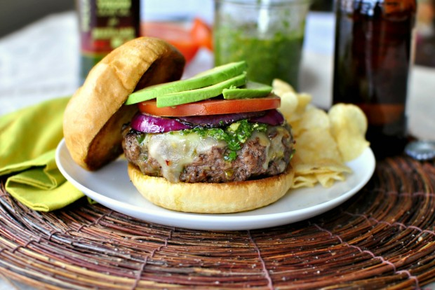 Spicy Chimichurri Burgers