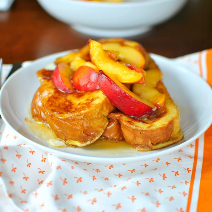 Vanilla Bean French Toast with Nectarines