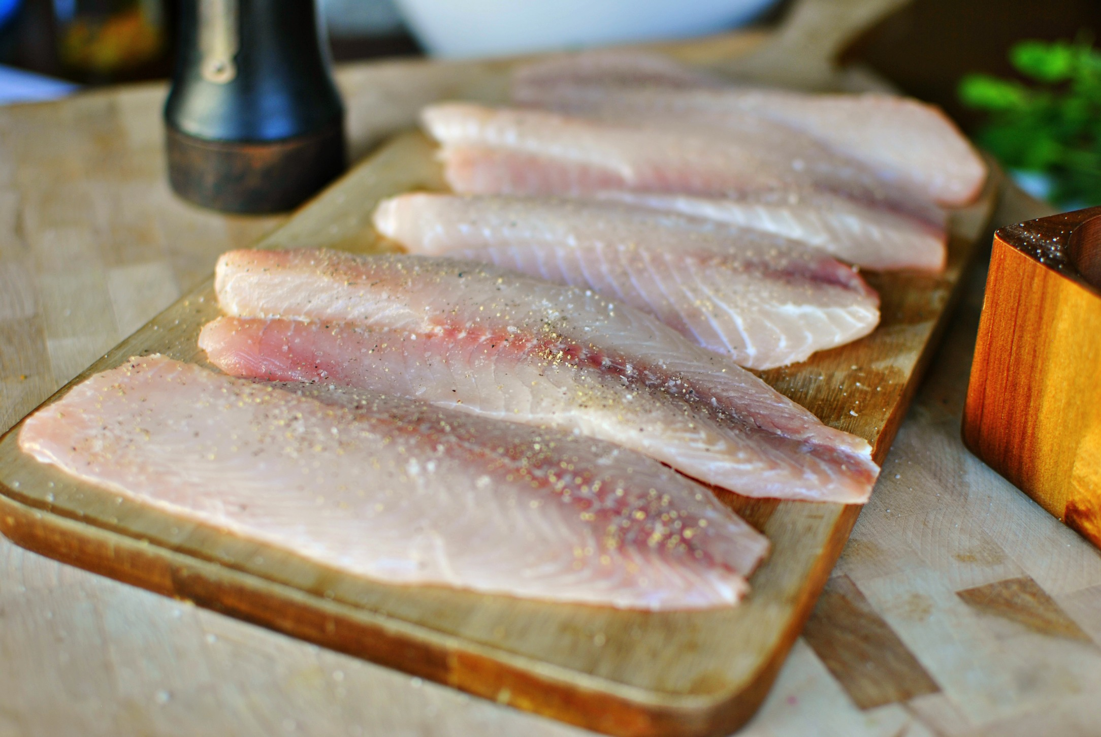 Simply scratch tilapia with lemon caper sauce simply scratch for Tilapia fish sticks