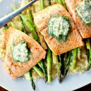 Grilled Salmon with Lemon Dill Butter