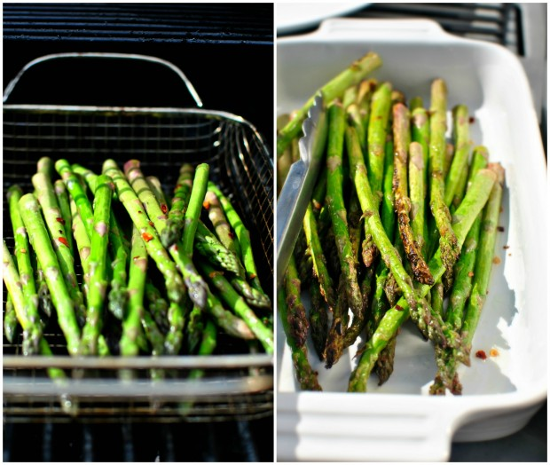 Grilled Asparagus Collage