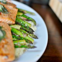 Grilled Spicy Garlic Asparagus