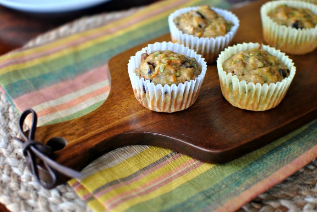 Loaded Zucchini Carrot Muffins - www.SimplyScratch.com