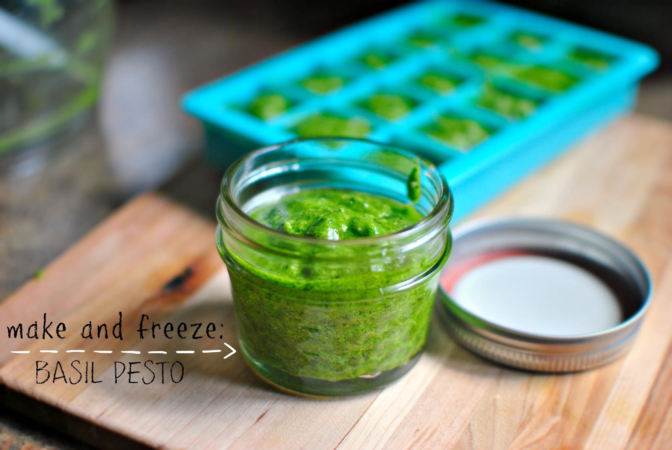 how to make pesto to freeze
