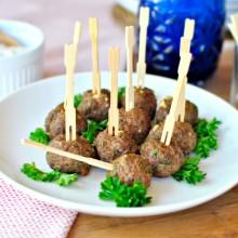 Mini Gyro Meatballs ll www.SimplyScratch.com