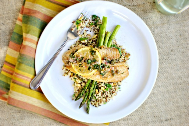 STAR Pan-Seared Tilapia with Lemon Caper Sauce 00