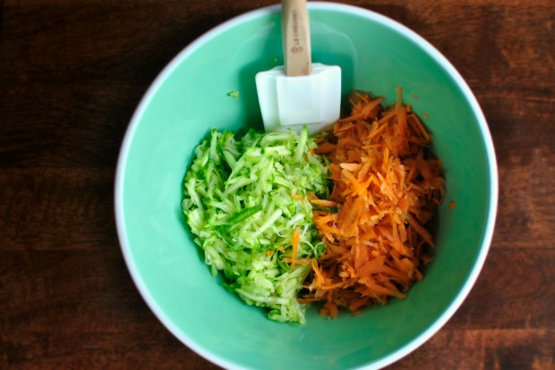 grated zucchini and carrot