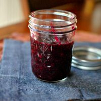 Roasted Red Wine Blueberry Sauce