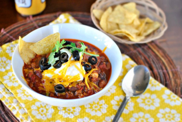 Slow Cooker Taco Chili l SimplyScratch.com