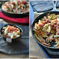 Bacon and Pepper Jack Skillet Mac-n-Cheese