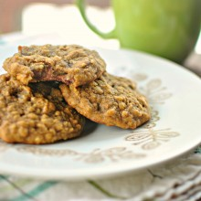 Pumpkin Oatmeal Chocolate Chip Cookies l www.SimplyScratch.com