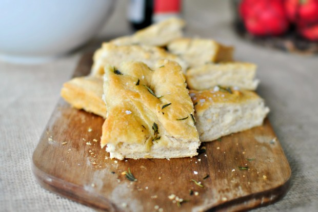 Rosemary and Sea Salt Focaccia ll www.SimplyScratch.com