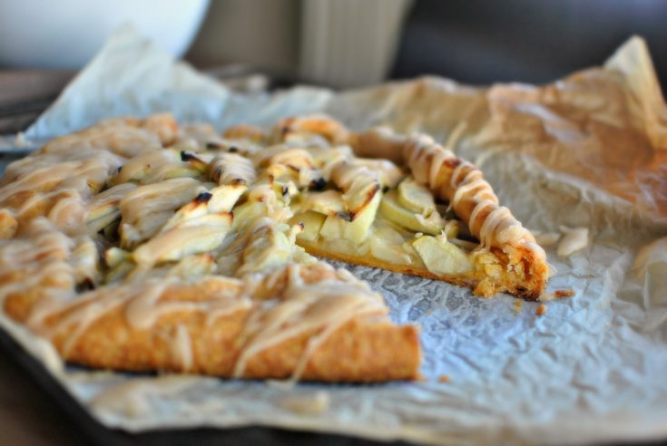Simple Apple Galette with a Cheddar Pie Crust + Sweet Brown Butter Drizzle