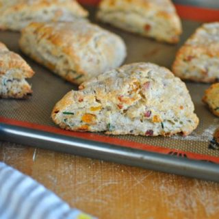 Bacon Apricot and Gorgonzola Scones