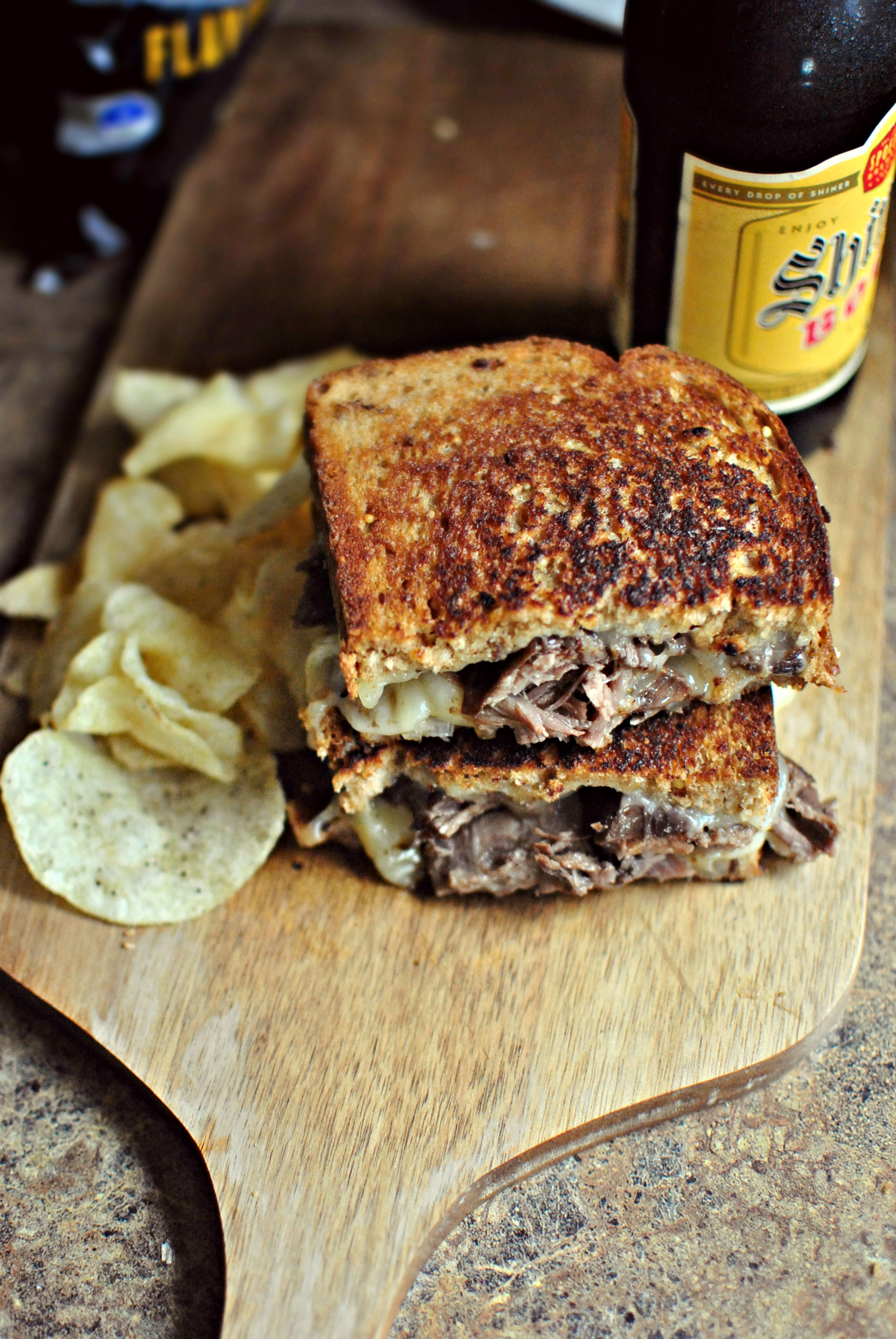 ... Leftover Pot Roast + Cheddar Grilled Cheese Sandwich - Simply Scratch