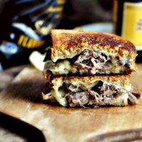 Leftover Pot Roast Grilled Cheese Sandwiches
