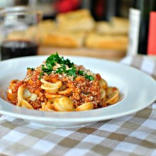 Tasty Kitchen Blog Orecchiette Bolognese 13