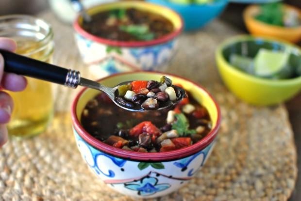Black Bean and Corn Soup l SimplyScratch.com