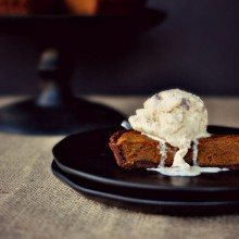 Bourbon Pumpkin Pie Tart a la Mode  www.SimplyScratch.com #pumpkin
