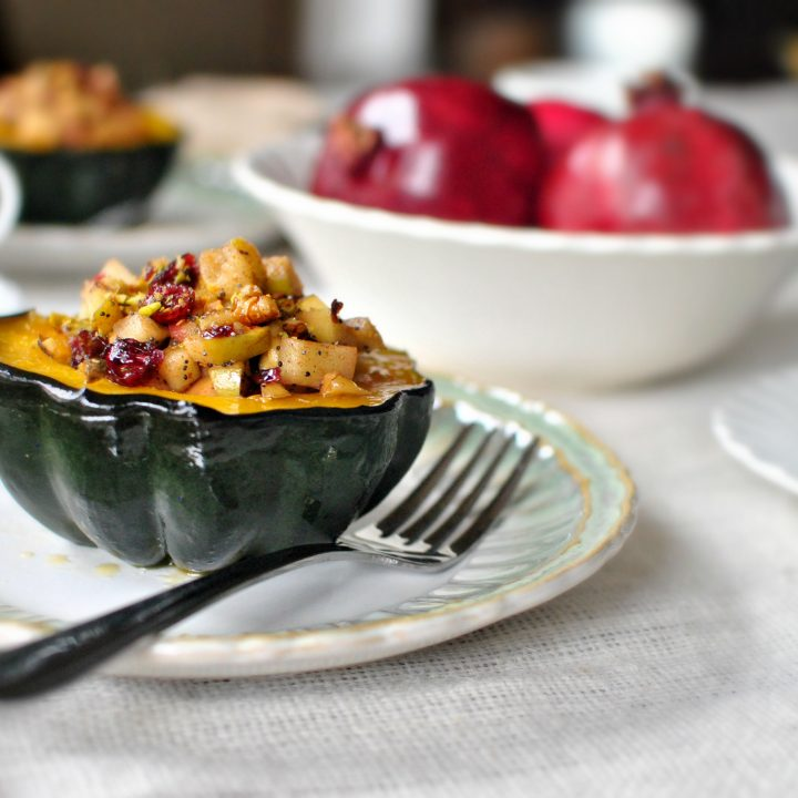 Fruit and Nut Stuffed Acorn Squash