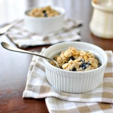 Hazelnut and Blueberry Baked Oatmeal - www.SimplyScratch.com