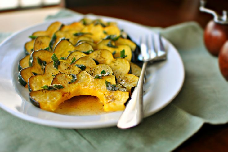 Roasted Acorn Squash with Brown Butter and Crispy Sage