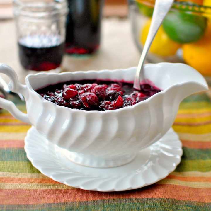 Roasted Cabernet Citrus Cranberry Sauce
