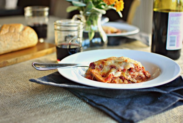 Vegetarian Spaghetti Squash Lasagna l SimplyScratch.com #meatlessmonday