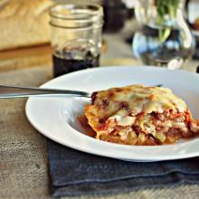 Vegetarian Spaghetti Squash Lasagna - www.SimplyScratch.com #meatlessmonday