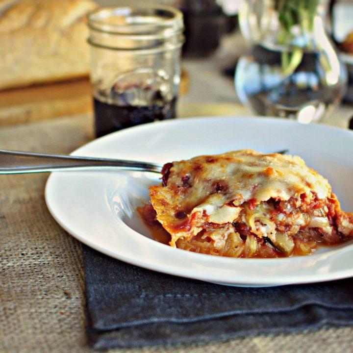 Vegetarian Spaghetti Squash Lasagna