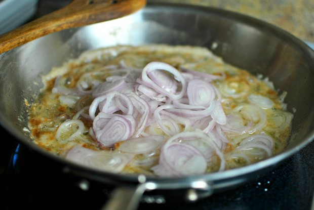 add two sliced shallots