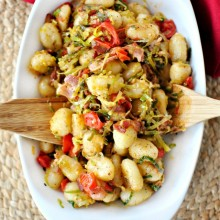 Bacon, Leek and Fresh Tomato Gnocchi  SimplyScratch.com 1