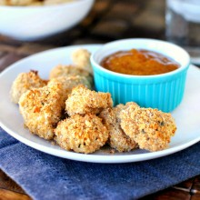Baked Whole Wheat Chicken Nuggets - www.SimplyScrach.com #kidfriendly #healthy #wholewheat