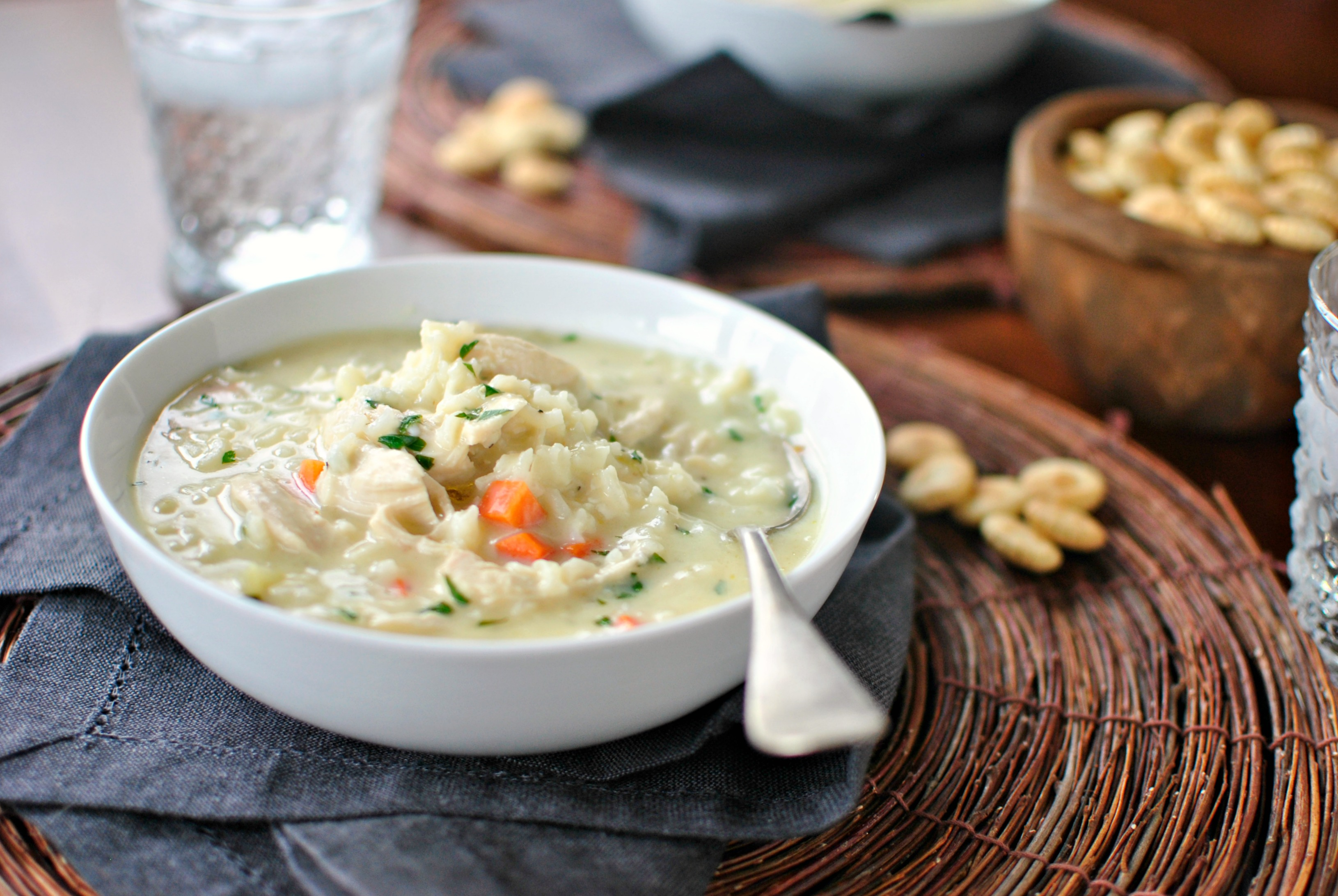 Simply Scratch Creamy Chicken and Lemon Rice Soup - Simply Scratch