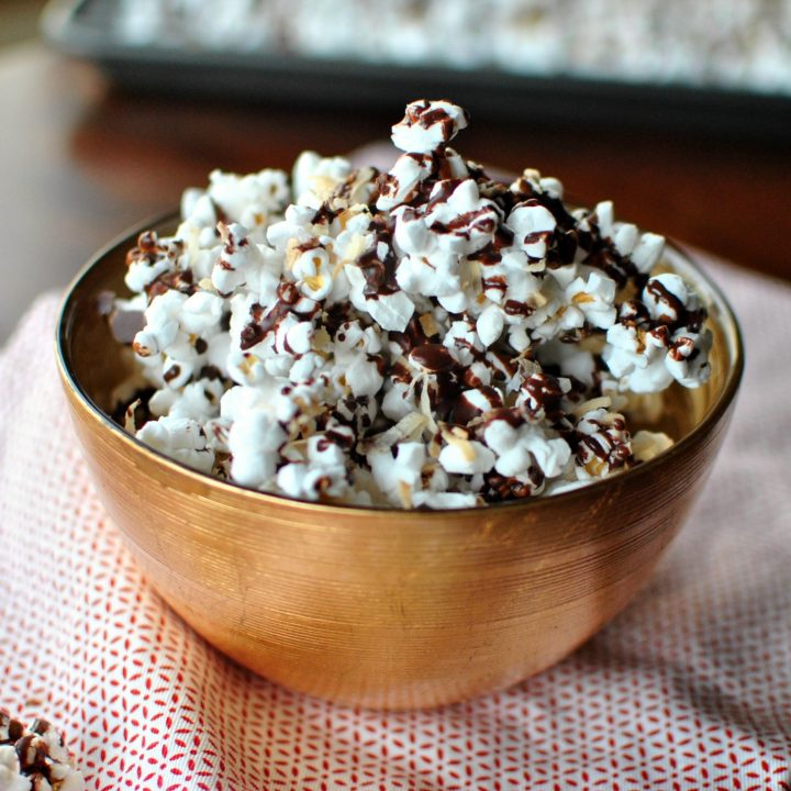 Dark Chocolate, Sea Salt and Toasted Coconut Popcorn