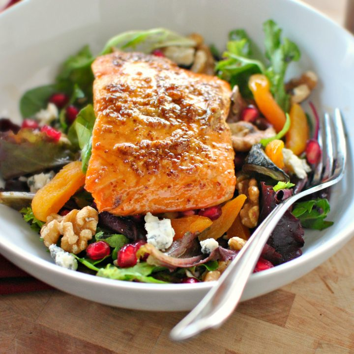 Glazed Salmon Winter Salad